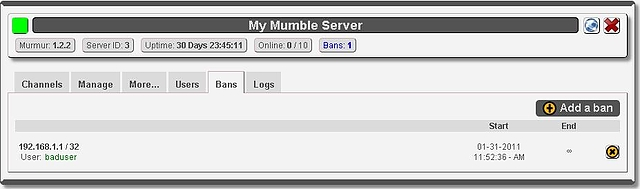 6. Server Bans